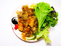 Fried spring rolls. Thai food Stock Images