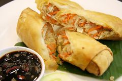 Fried springrolls Royalty Free Stock Images