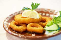 Fried squid Stock Photography