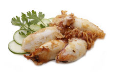 Fried squid Stock Image