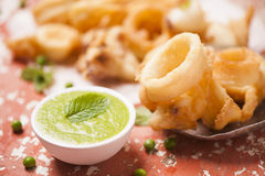Fried squid Royalty Free Stock Photo