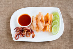 Fried Squid Royalty Free Stock Photography
