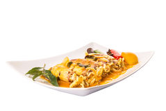 Fried Squid With Curry Gravy II Stockbild