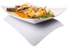 Fried Squid With Curry Gravy V photo libre de droits