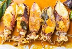 Fried Squid With Curry Gravy X image libre de droits