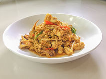 fried squid with curry power, Real traditional Thai food, One of Royalty Free Stock Images
