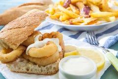 Fried squid Stock Image