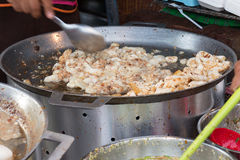 Fried squid egg Royalty Free Stock Photography