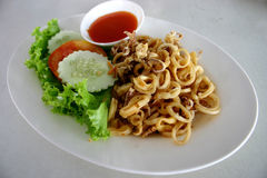 Fried Squid Rings. In Thailand Stock Photography