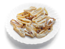 Fried Squid Rings Stock Image