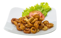 Fried squid rings Royalty Free Stock Images