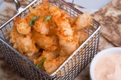 Fried squid with sauce Stock Photos