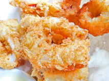 Fried squid Royalty Free Stock Photos