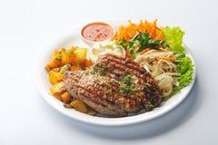 Fried steak Stock Image