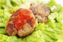 Fried steak with gravy Royalty Free Stock Photos