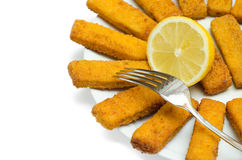 Fried cod fingers Stock Image