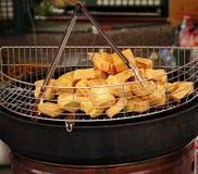 Fried Stinky Tofu profundo imagens de stock