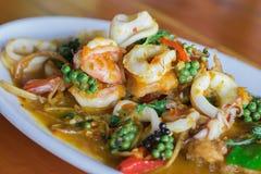 Free Fried Stir Spicy Sea Food Royalty Free Stock Photo - 111157795