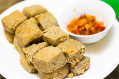Fried strong-smelling fermented bean curd Royalty Free Stock Images