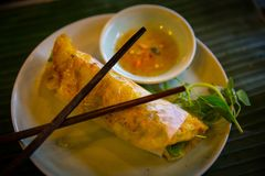 Fried Summer Roll Royalty-vrije Stock Afbeelding