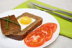 Fried  sunny-side-up egg Stock Photos