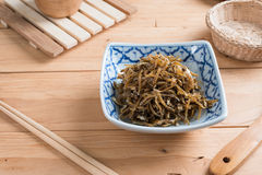 Fried sweet Anchovies in bowl Royalty Free Stock Photos