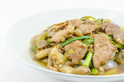 Fried sweet pepper with pork Stock Image