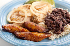 Fried Sweet Plaintains - Cuban Food Stock Image