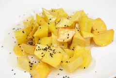 Fried Sweet potatis royaltyfria foton