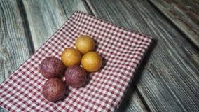 Fried sweet potato ball royalty free stock image