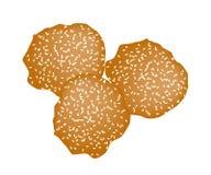 Fried Sweet Potato Balls profundo con sésamo stock de ilustración
