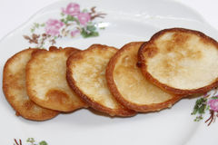 Fried sweet potato cake Royalty Free Stock Photos