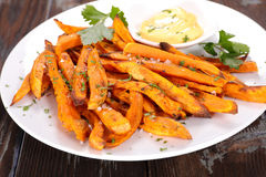 Fried sweet potato Royalty Free Stock Image