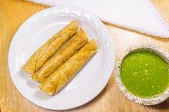 Fried Tacos friável Fotografia de Stock Royalty Free
