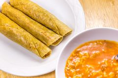 Fried Tacos friável Imagens de Stock