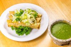 Fried Tacos friável Fotografia de Stock