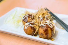 Fried Takoyaki balls dumpling - japanese food Royalty Free Stock Images