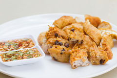 Fried Taro and Black Beans and bean curd royalty free stock images