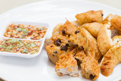 Fried Taro and Black Beans and bean curd Stock Image