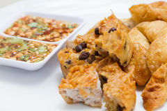 Fried Taro and Black Beans and bean curd Stock Photography