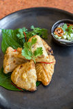 Fried taro Stock Photo