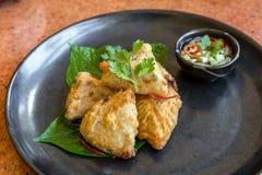 Fried taro Stock Image