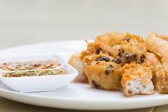 Fried Taro und schwarze Bohnen und Bohnengallerte Lizenzfreie Stockfotografie