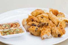 Fried Taro und schwarze Bohnen und Bohnengallerte Lizenzfreie Stockbilder
