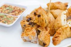 Fried Taro und schwarze Bohnen und Bohnengallerte Lizenzfreie Stockfotos