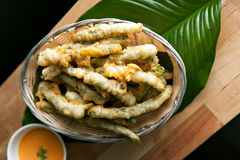 Fried Tempura Asparagus royaltyfria bilder