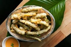 Fried Tempura Asparagus lizenzfreie stockbilder