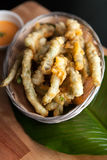 Fried Tempura Asparagus Royalty Free Stock Image