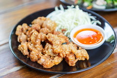 Fried tendon Chicken with Stock Photos