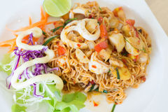 Fried Thai Mama Instant Noodles Royalty Free Stock Photography